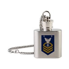 USCG-Rank-IVCM Flask Necklace