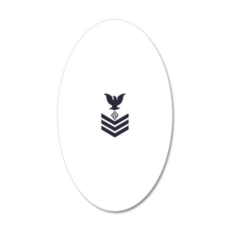 USCG-Rank-PS1-Blue-Diamond 20x12 Oval Wall Decal