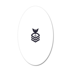 USCG-Rank-PSC-Blue-Diamond 20x12 Oval Wall Decal