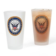 Navy-Emblem Drinking Glass