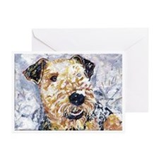Airedale terrier first snow Greeting Cards (Packag