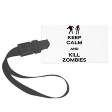 Kill Zombies Luggage Tag