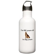 70 birthday dog years german shepherd Water Bottle
