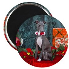 Italian Greyhound Christmas Watercolor Magnet