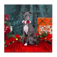 Italian Greyhound Christmas Watercolor Tile Coaste