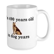 70 birthday dog years german shepherd 2 Mug