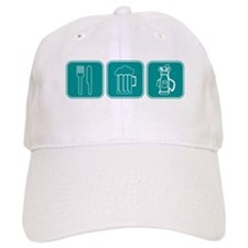 eat-drink-golf Baseball Cap