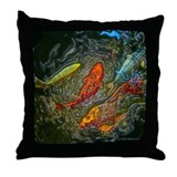 Black Koi Throw Pillow