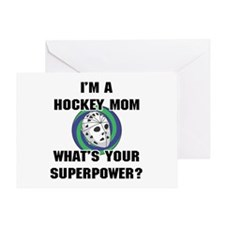 Hockey Mom Superhero Greeting Card