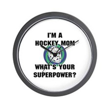 Hockey Mom Superhero Wall Clock