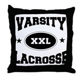 Varsity Lacrosse Throw Pillow
