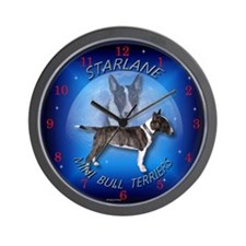 Mini Bull Terrier Wall Clock
