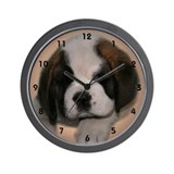 St Bernard Puppy Wall Clock