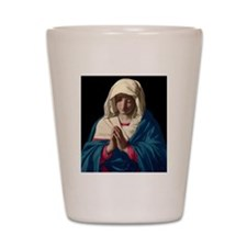 Virgin Mary in Prayer Shot Glass