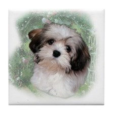 Cute Puppy Tile Coaster