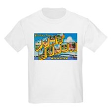 Port Huron Michigan Greetings (Front) Kids T-Shirt