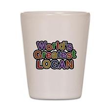 Worlds Greatest Logan Shot Glass
