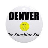 Denver, The Sunshine State Ornament (Round)
