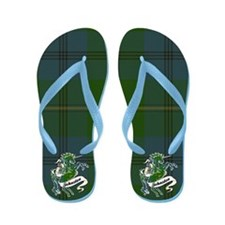 Johnston Tartan Unicorn Flip Flops