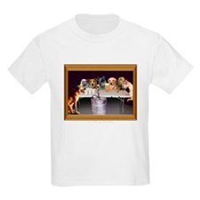 Dogs Playing Beer Pong Kids T-Shirt