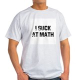 I Suck At Math Ash Grey T-Shirt