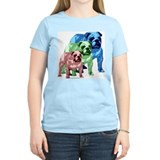 3 Tone Bulldog Women's Pink T-Shirt