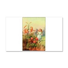 Alice in Wonderland Garden vintage art Car Magnet