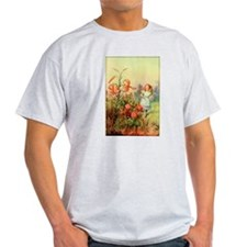 Alice in Wonderland Garden vintage art T-Shirt