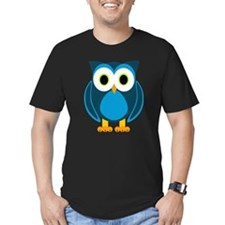 Cute Blue Cartoon Owl T-Shirt