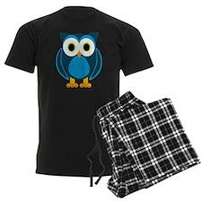 Cute Blue Cartoon Owl Pajamas