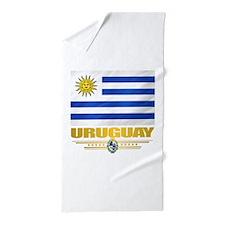Uruguay Flag Beach Towel