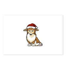 Corgi Claus Postcards (Package of 8)