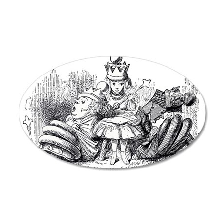 Queen Alice Wonderland illustration Wall Decal