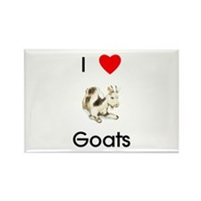 I Love Goats Rectangle Magnet (10 pack)