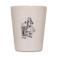 Drink Me Alice in Wonderland vintage art Shot Glas