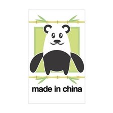 Made in China Panda Rectangle Decal