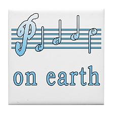 Musical Peace on Earth Tile Coaster
