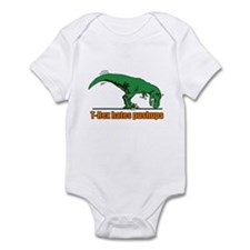 T Rex hates pushups Infant Bodysuit