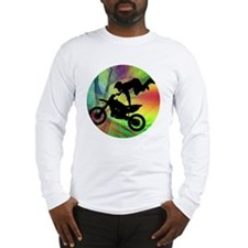 Motocross in a Psychedelic Spi Long Sleeve T-Shirt