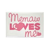 Memaw Love Me (pink) Rectangle Magnet
