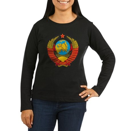 USSR Women's Long Sleeve Dark T-Shirt
