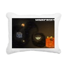 Minecraft outside the bo Rectangular Canvas Pillow