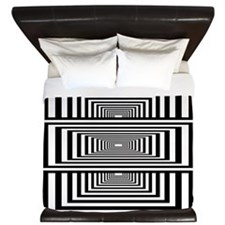 Optical Illusion Rectangles King Duvet
