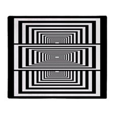 Optical Illusion Rectangles Throw Blanket
