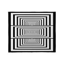 Optical Illusion Rectangles Throw Blanket