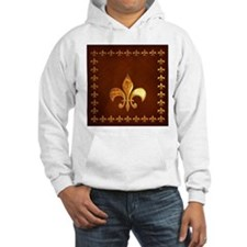 Old Leather with gold Fleur-de-Lys Jumper Hoody