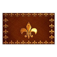Old Leather with gold Fleur-de-Lys Decal