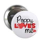 Poppy Love Me (red) Button