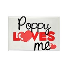 Poppy Love Me (red) Rectangle Magnet