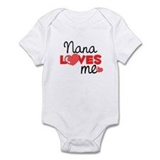 Nana Love Me (red) Infant Bodysuit